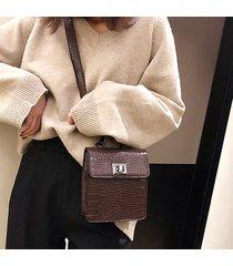 coccodrillo donna modello vita borsa cassa per il tempo libero borsa solid crossbody borsa