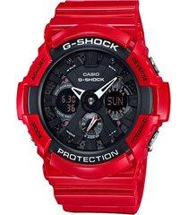 reloj g-shock modelo ga_201rd_4a rojo hombre