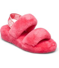 w oh yeah shoes summer shoes flat sandals rosa ugg