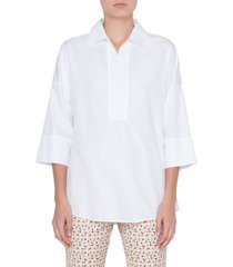 women's akris punto cotton poplin tunic