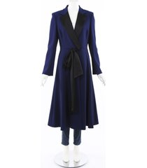 carolina herrera blue a-line bow dress coat blue sz: m