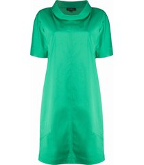 antonelli cowl poplin dress - green