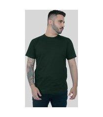 camiseta action clothing básica verde musgo