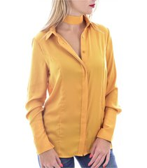 soepelvallende blouse met chique kraag