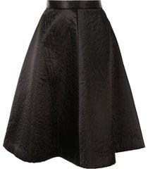comme des garçons pre-owned knee-length full skirt - black