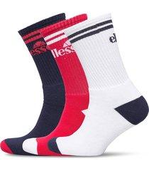 el 3pk mens socks navy red underwear socks regular socks multi/mönstrad ellesse
