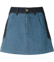andrea bogosian paky denim skirt - blue