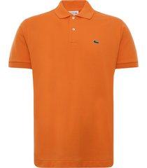 lacoste classic fit l.12.12 polo shirt   orange   l1212-tv1