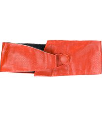 missoni pre-owned embossed thick belt - yellow