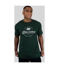 camiseta action clothing santa monica verde musgo