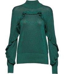 nailah gebreide trui groen munthe