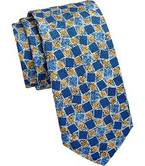 collection tilted square silk print tie