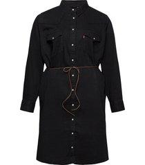 plus western dress black book jurk knielengte zwart levi's plus
