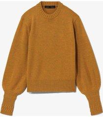 merino balloon sleeve sweater