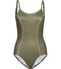 mansion swimsuit badpak badkleding groen résumé