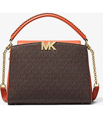 mk borsa a mano karlie media con logo - spezia arancio (arancio) - michael kors