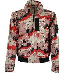 stone island 445e3 3c + pu desert camouflage jacket