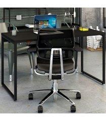mesa para escritório office kuadra ônix 8397 - compace
