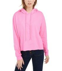 self esteem juniors' raw edge hoodie