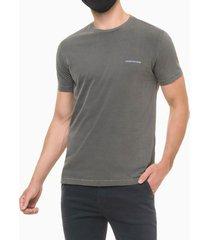 camiseta masculina estampa techno club chumbo médio calvin klein - pp