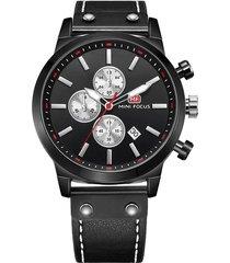 reloj análogo f0110g-4 hombre negro
