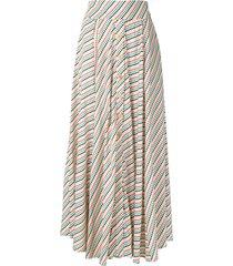 eva boquinhas striped midi skirt - multicolour