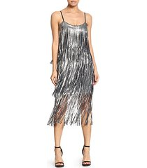 roxy sequin fringe dress