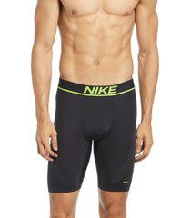 nike advantage boxer briefs, size small in black/volt at nordstrom