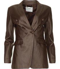 faux leather blazer billa  bruin