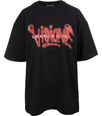 black and red visione man t-shirt