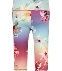 molo colorful girl leggings with colorful flowers