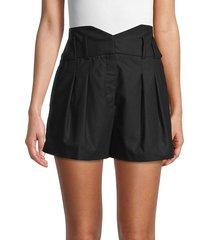 iro women's sherlina wool-blend paperbag shorts - black - size 34 (2)