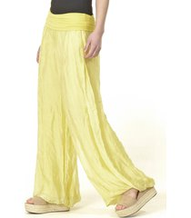 pantalón gasa liso italiano amarillo bous