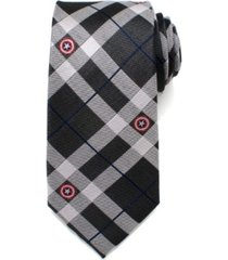 marvel captain america plaid men's tie
