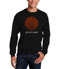 men's occupy mars word art crewneck sweatshirt