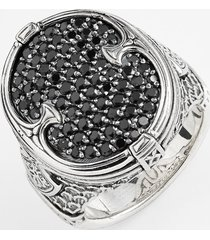 men's konstantino 'plato' pave etched ring