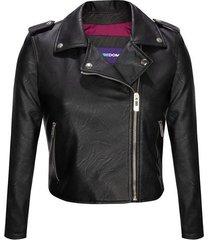 chaqueta moda tipo biker en poliuretano para mujer freedom 01075