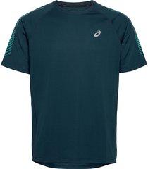 icon ss top t-shirts short-sleeved blå asics