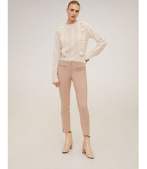 skinny broek met ritsen