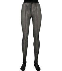 tom ford stretch seamed tights - black