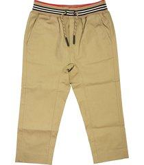 burberry dilan - icon stripe detail cotton twill drawcord trousers