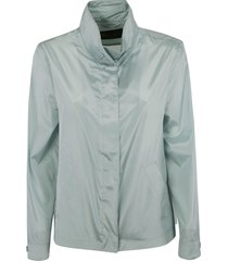 loro piana stand-up collar concealed jacket