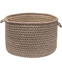 natural wool houndstooth braided basket