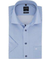 olymp korte mouwen shirt modern fit lichtblauw
