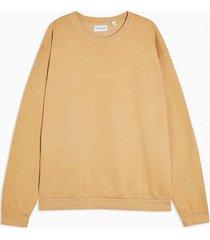 mens yellow mustard tokyo oversized sweatshirt