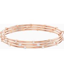 bracciale rigido penã©lope cruz moonsun cluster, bianco, placcato oro rosa