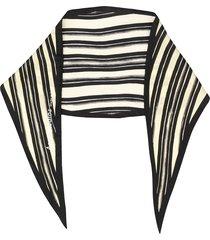 acne studios striped silk bandana - yellow