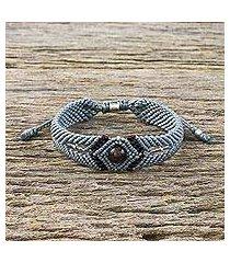 garnet pendant bracelet, 'karen essence' (thailand)