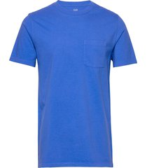 pocket t-shirt t-shirts short-sleeved blå gap