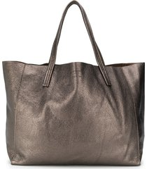 kurt geiger london violet horizontal tote - grey
